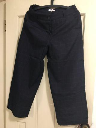 CHICA 格紋黑色寬褲