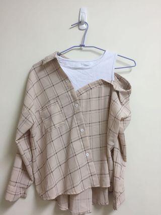 假兩件襯衫上衣