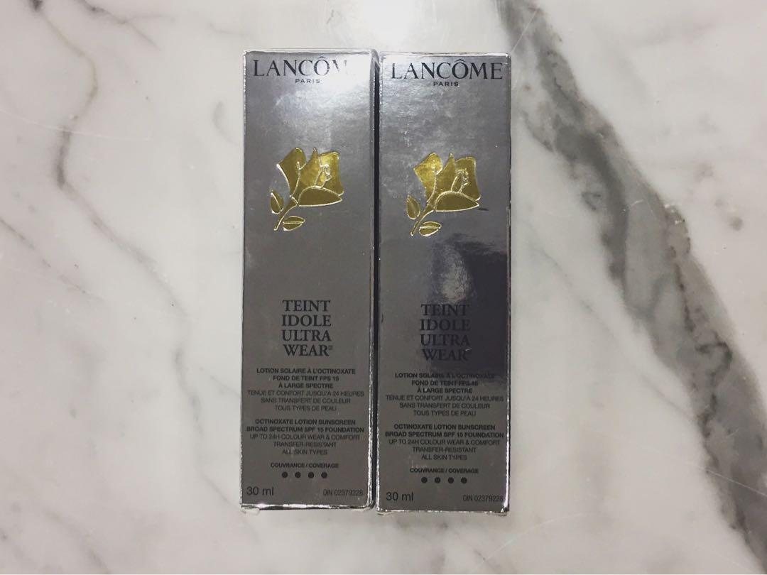 2 BRAND NEW IN BOX LANCOME TEINT IDOLE FOUNDATIONS IN SHADE 425 BISQUE W FOR $60!! ($140 VALUE)