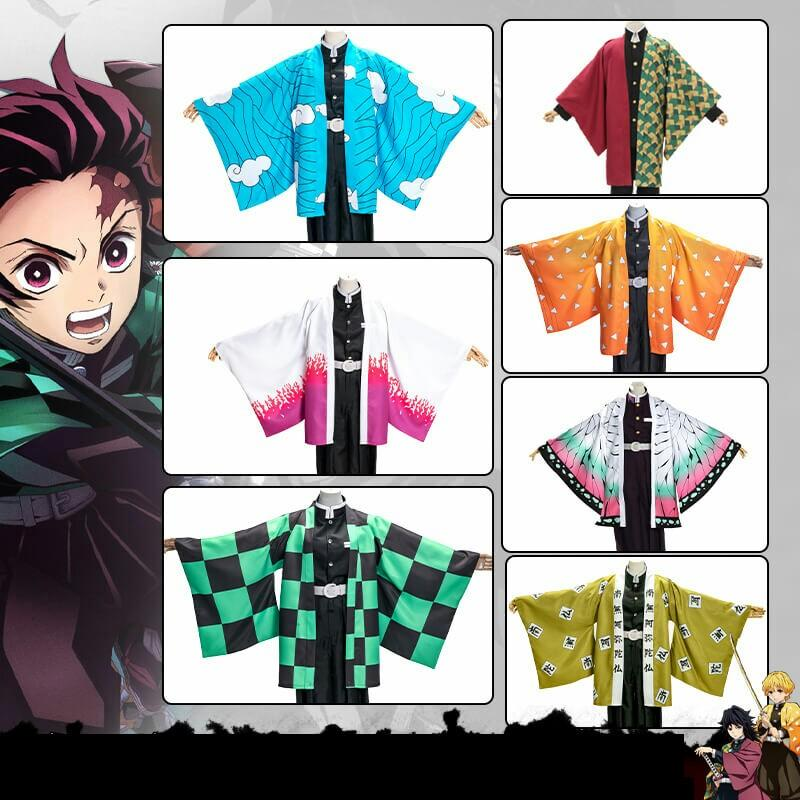 Anime Demon Slayer Kimetsu no Yaiba Tanjirou Kamado Tomioka Giyuu Zenitsu Agatsuma Kochou Shinobu Cloak