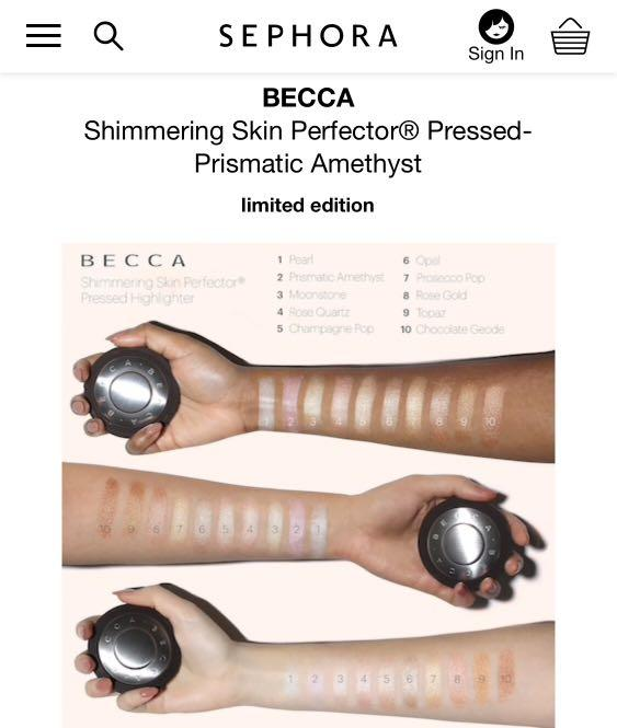 Becca Highlighter shimmering skin perfector - pressed
