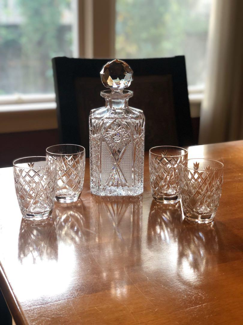 *CHRISTMAS SALE* Waterford Whiskey Decanter with 4 Rocks Glasses