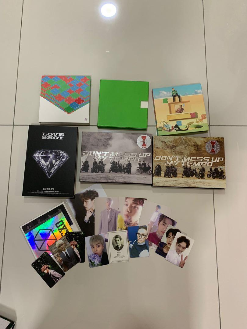 [clearance sale] EXO album ,photocard and official merch