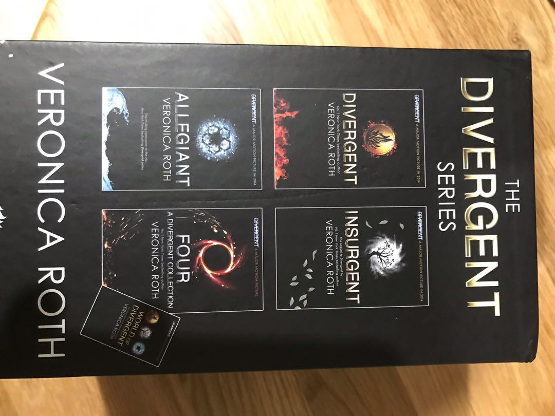 Divergent Veronica Roth series 4 books plus mini extra book box set