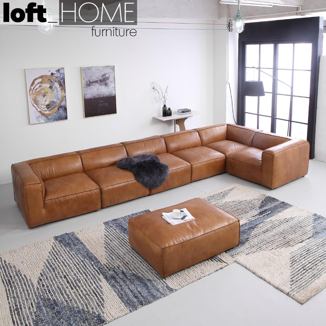Genuine Leather Sofa – BreadArm