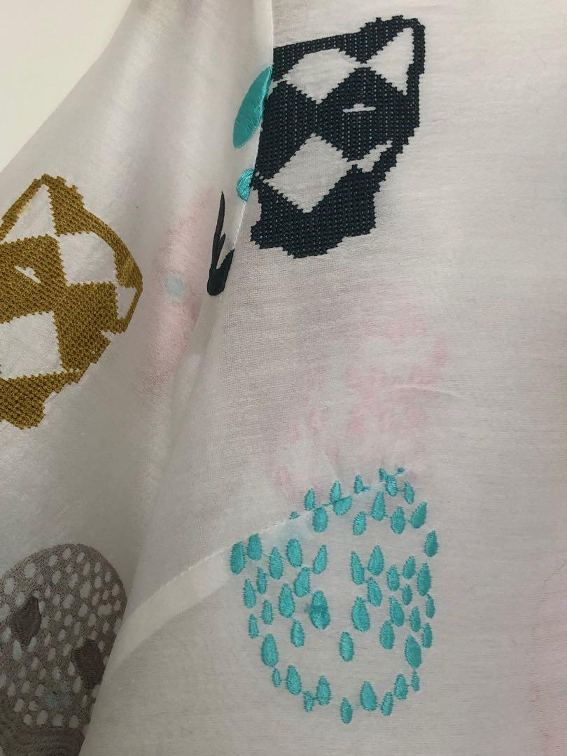 Gorman x Fred Fowler collaboration silk cotton embroidered top