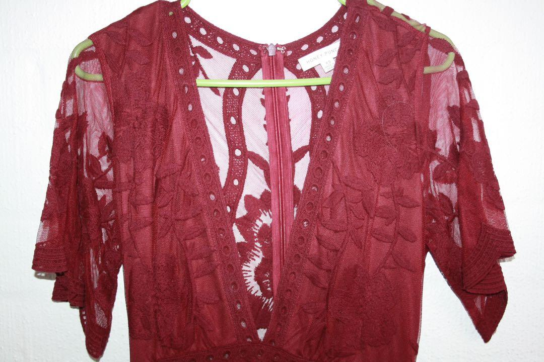 Honey Punch Pink Lacy Jumpsuit (New York purchase)
