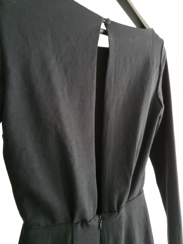 KOOKAI Black Long Sleeve Backless Thigh Split Dress