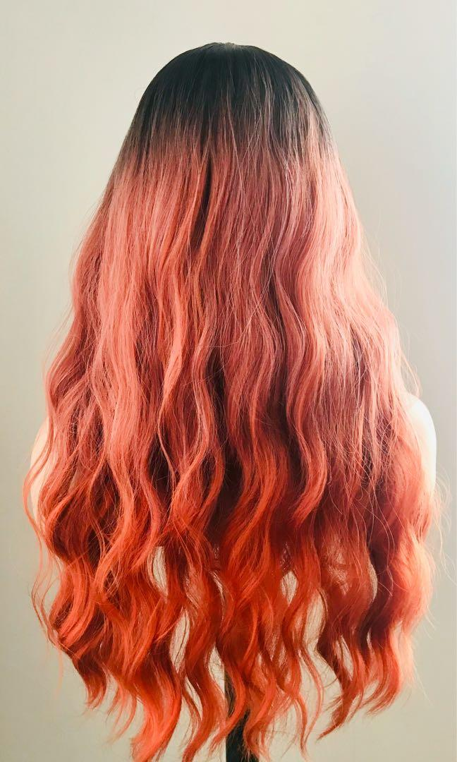 Long Beautiful Wavy Red Wig for Everyday or The Holidays