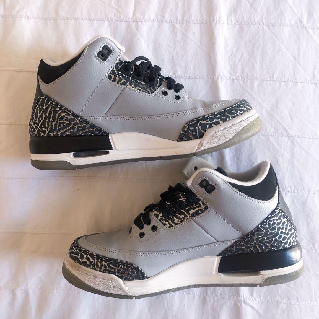 Nike Jordan 3 Retro BG 'Wolf Grey' - Women's 7/Kids 6Y