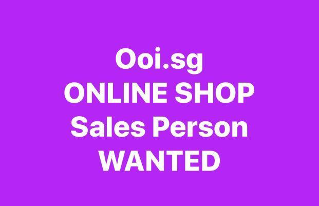 ONLINE SHOP Sales Person