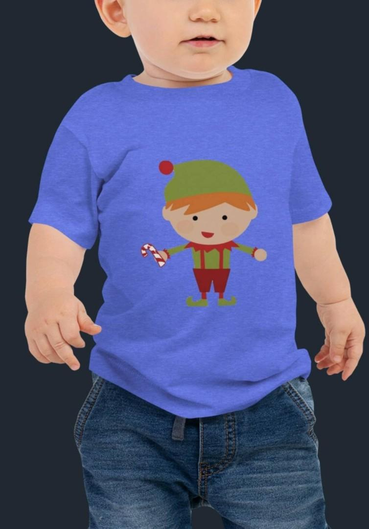 Our Little Little Elf - Baby Tee by Designs By You
