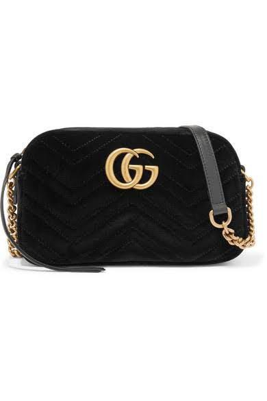 Replica Gucci Marmont small quilted velvet shoulder bag