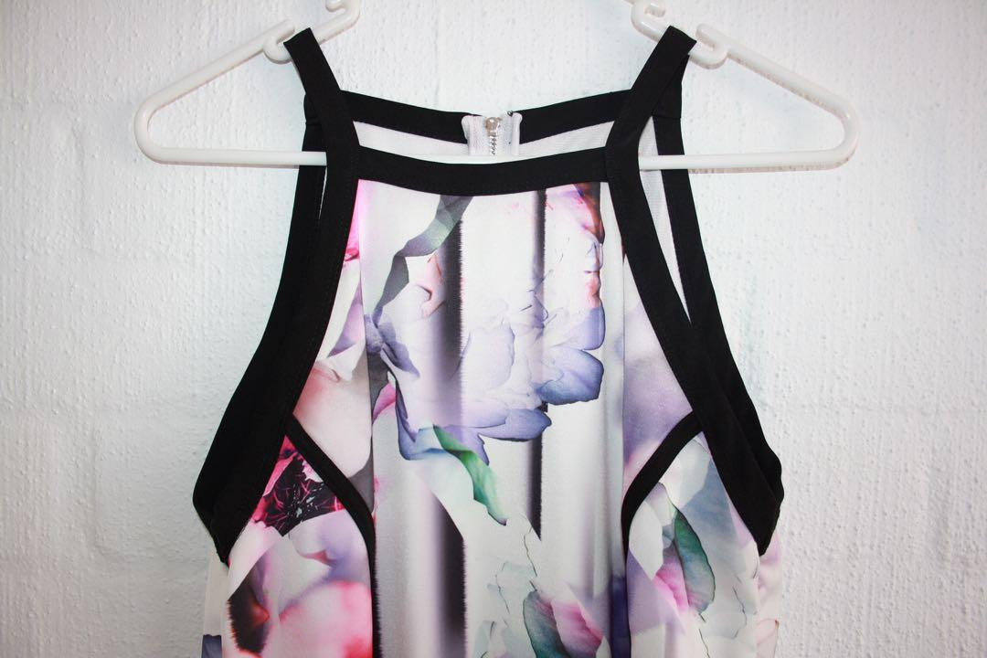 Sheike multi colour dress (size altered to smaller then label)