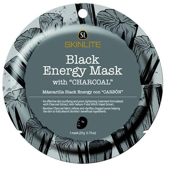 Skin Lite Intense Everyday Natural Skin Black Blended Charcoal Energy Purifying Pore Tightening Soothe Facial Face Sheet Mask