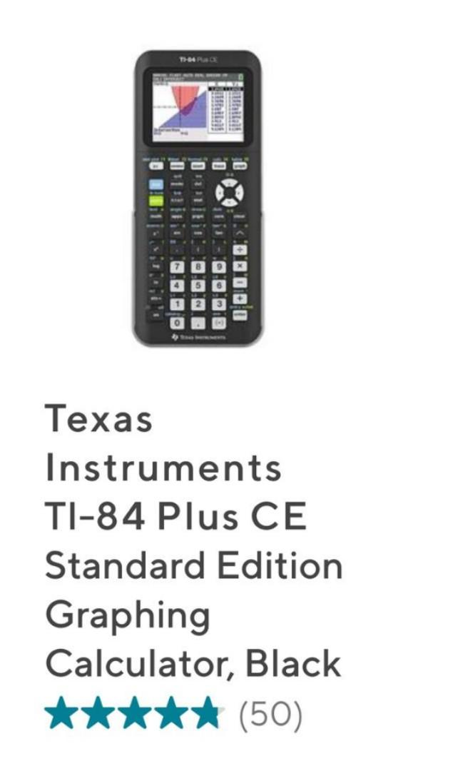Texas Instruments TI-84 Plus CE - Graphing Calculator
