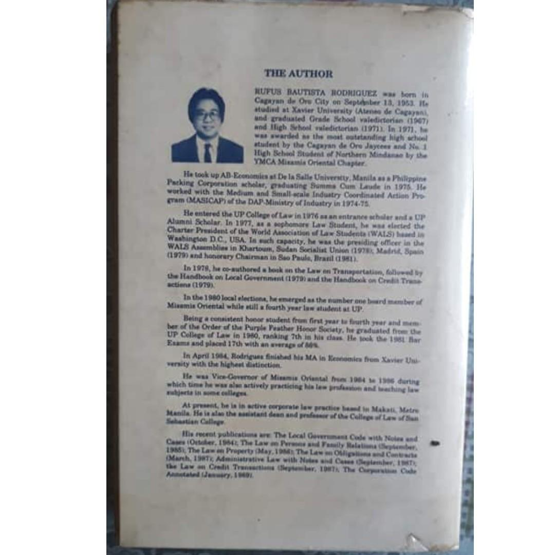 The Insurance Code of the Philippines Annotated (Atty Rufus Rodriguez, 1st ed, 1989)