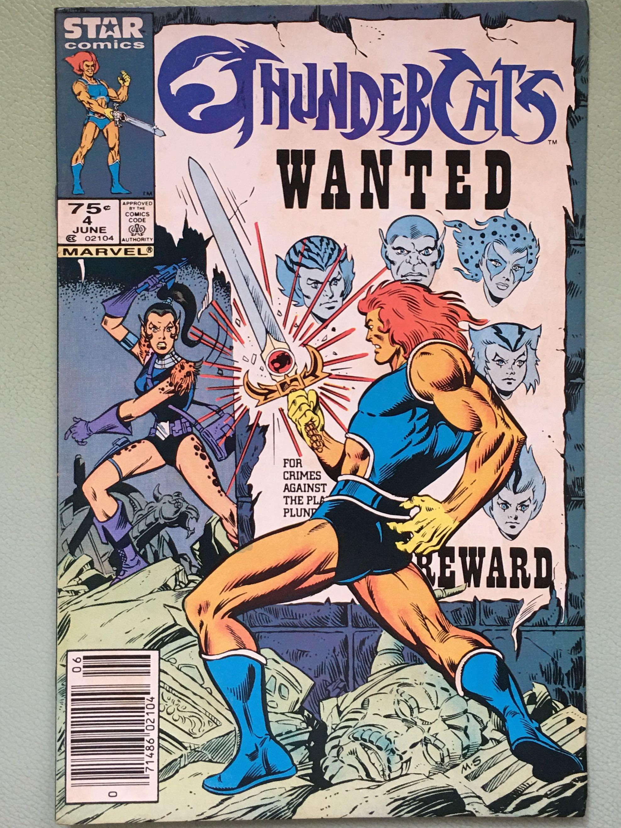 THUNDERCATS #3,4,5,6,7,9_TV Cartoon Tie-in_Marvel Comics_P150 EACH