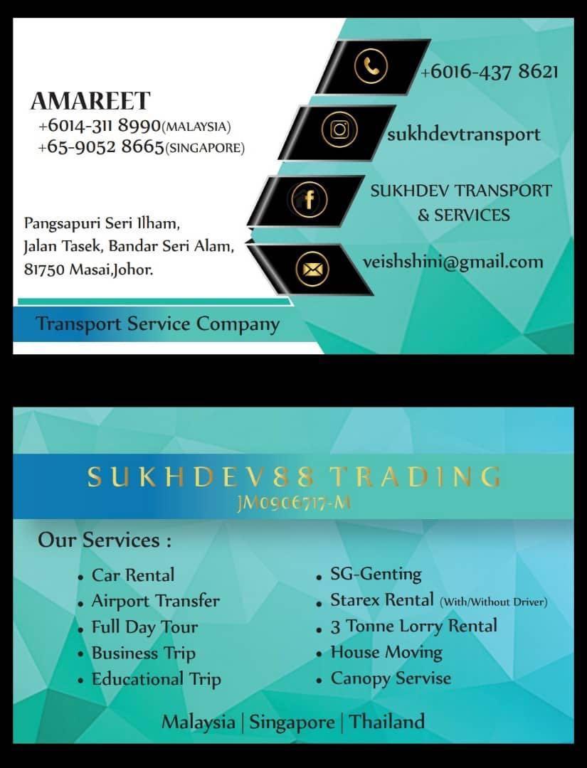 Transport taxi jb to Sg/Sg to Mersing/Melaka/port Dickson/kl/genting hingland