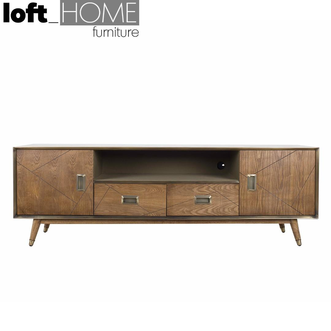 TV Console – Vintage Brass