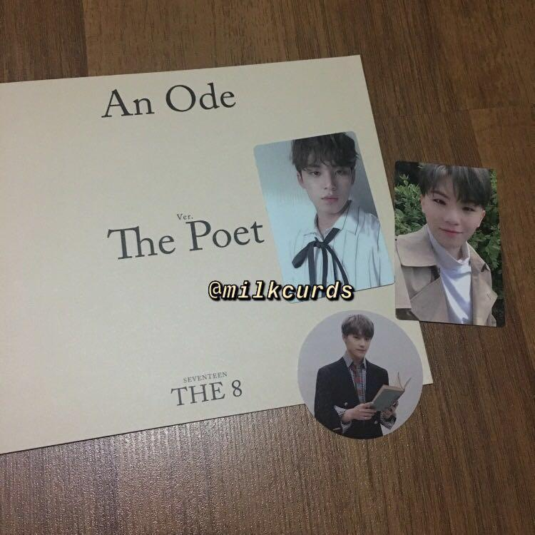 [WTT/WTS] Seventeen An Ode Poet Ver photocards, sticker, photobook