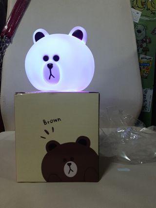 line 熊大 變色小夜燈