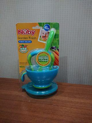 #換物 全新 Nuby鮮果園 食物研磨碗組(附匙)副食品工具