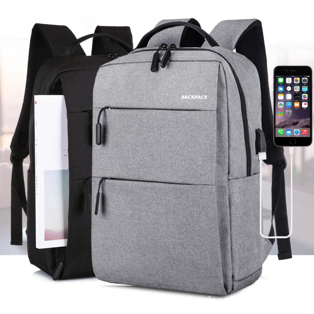 """16"""" Inch Notebook Laptop Bag Backpack Computer Backpack Bag Business Leisure Travel Backpack Black Grey Gray Dark Blue Laptop Bag Backpack"""