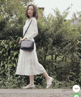 #出清2019 pixy 微甜蜜綻放圓弧側背包 巧克黑
