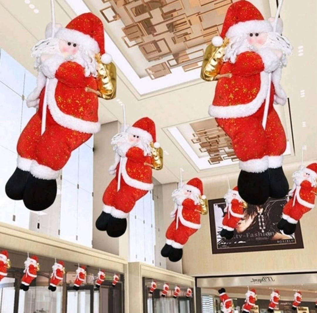 1 36cm Hanging Santa Claus Christmas Tree/Hanging Ornament Decoration