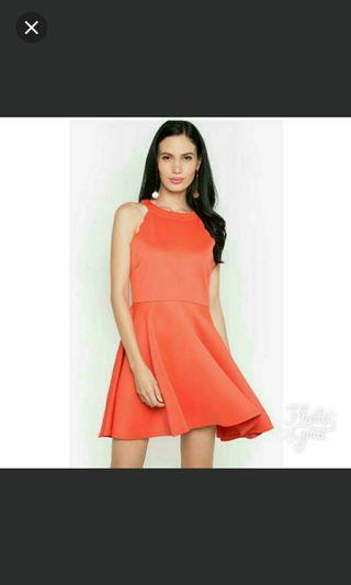 Sale! Thrift Market Scallop Orange Dress