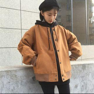 韓版棒球外套 駝色