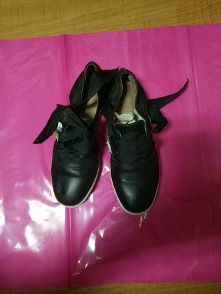 ALL BLACK 全真皮休閒鞋-36