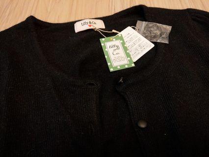 Titty黑針織短外套