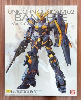 萬代 BANDAI 鋼彈UC MG 1/100 報喪女妖 獨角獸鋼彈2號機 Ver.Ka