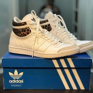 Adidas Top Ten Hi Sleek W White Leopard