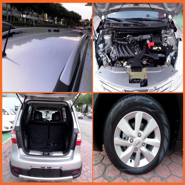 二代五門掀背轎旅車  2015 日產  樂薇娜 1.6 銀 NISSAN  LIVINA