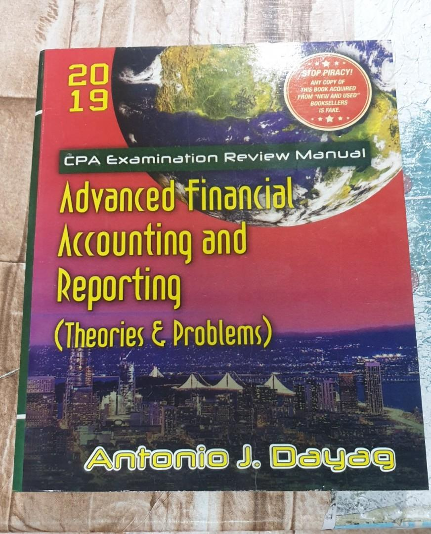 Advanced Financial Accounting and Reporting by Antonio Dayag