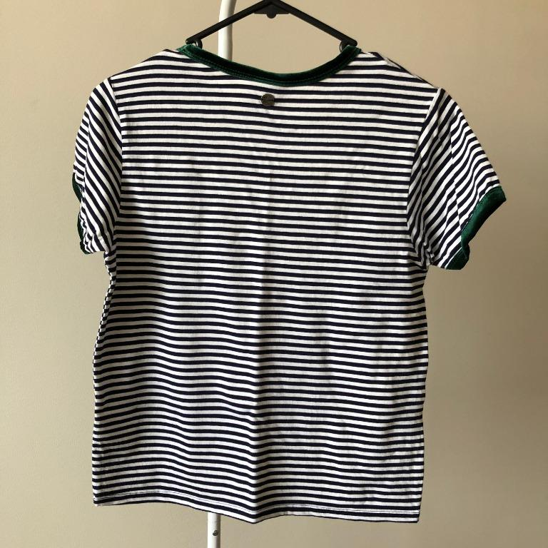 All About Eve Ringer T-Shirt in Stripe (Aus Size 6)