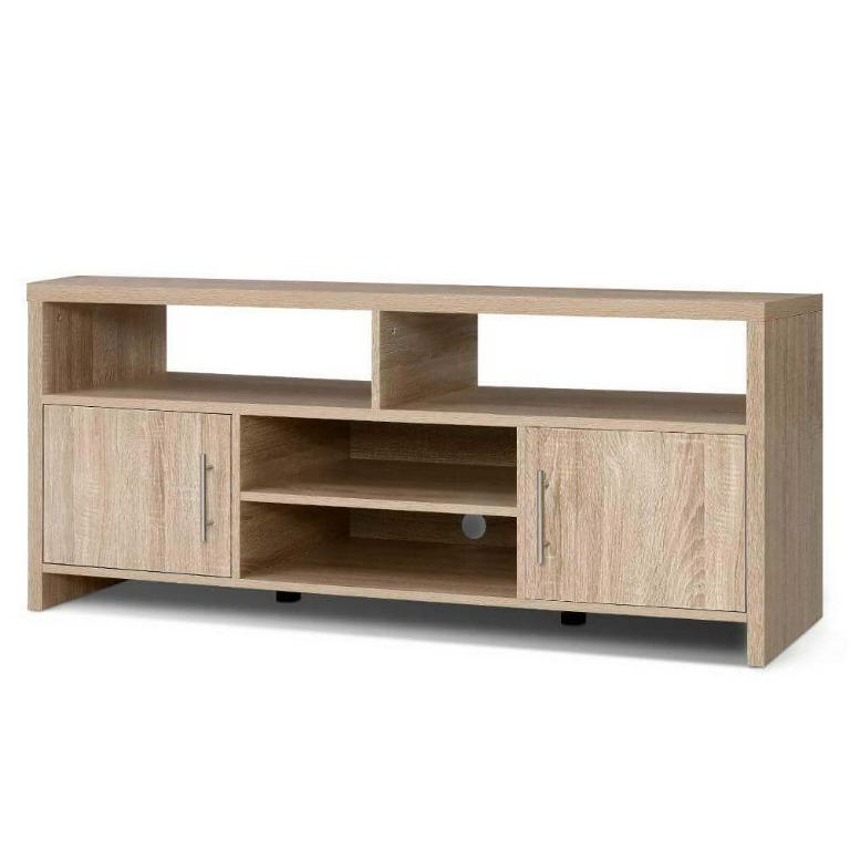 Artiss TV Cabinet Entertainment Unit Stand Storage Shelf Sideboard 140cm Oak