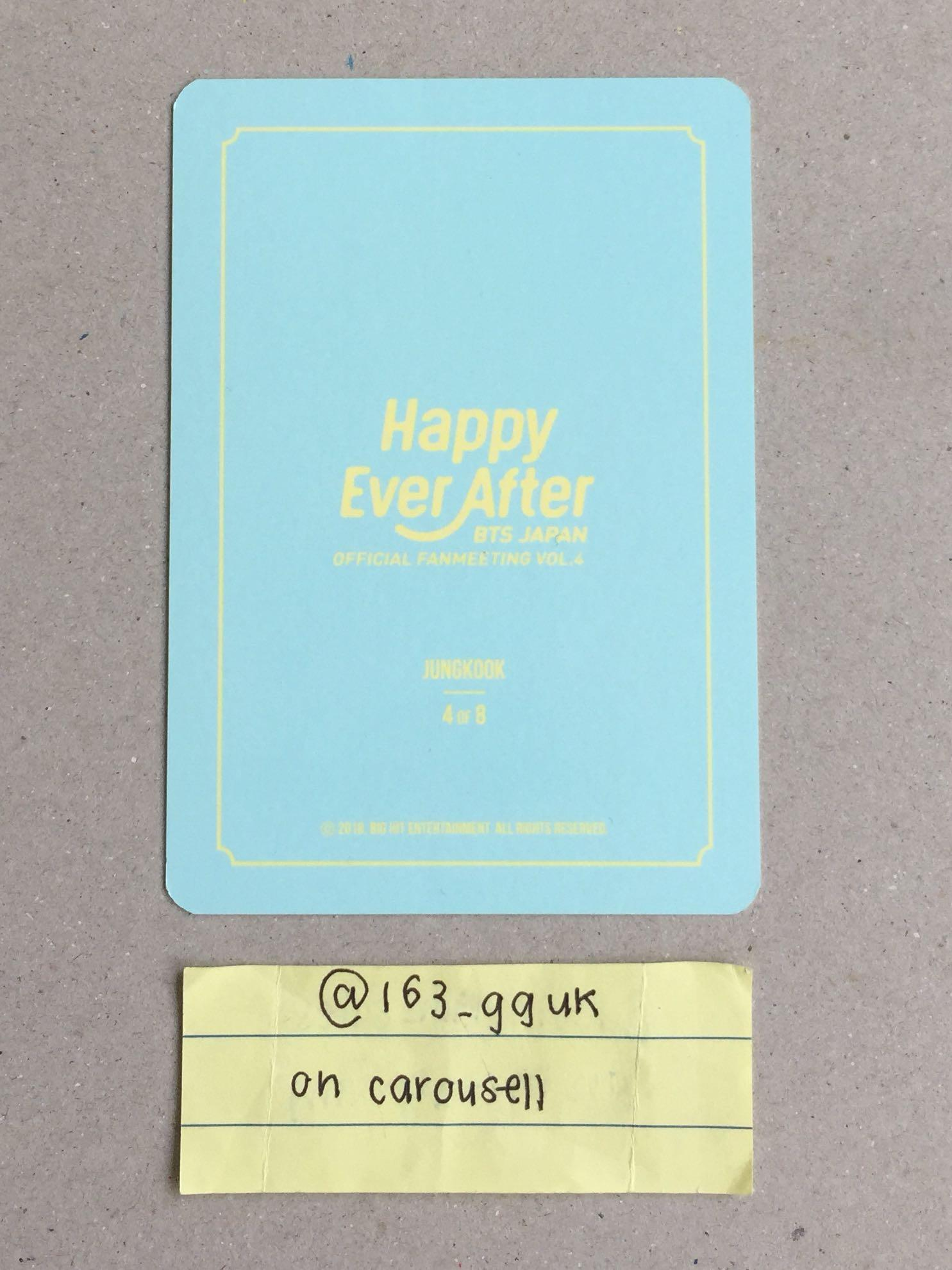 bts 4th japan  muster HEA / japan fm vol 4 happy ever after jungkook 4/8 mini pc