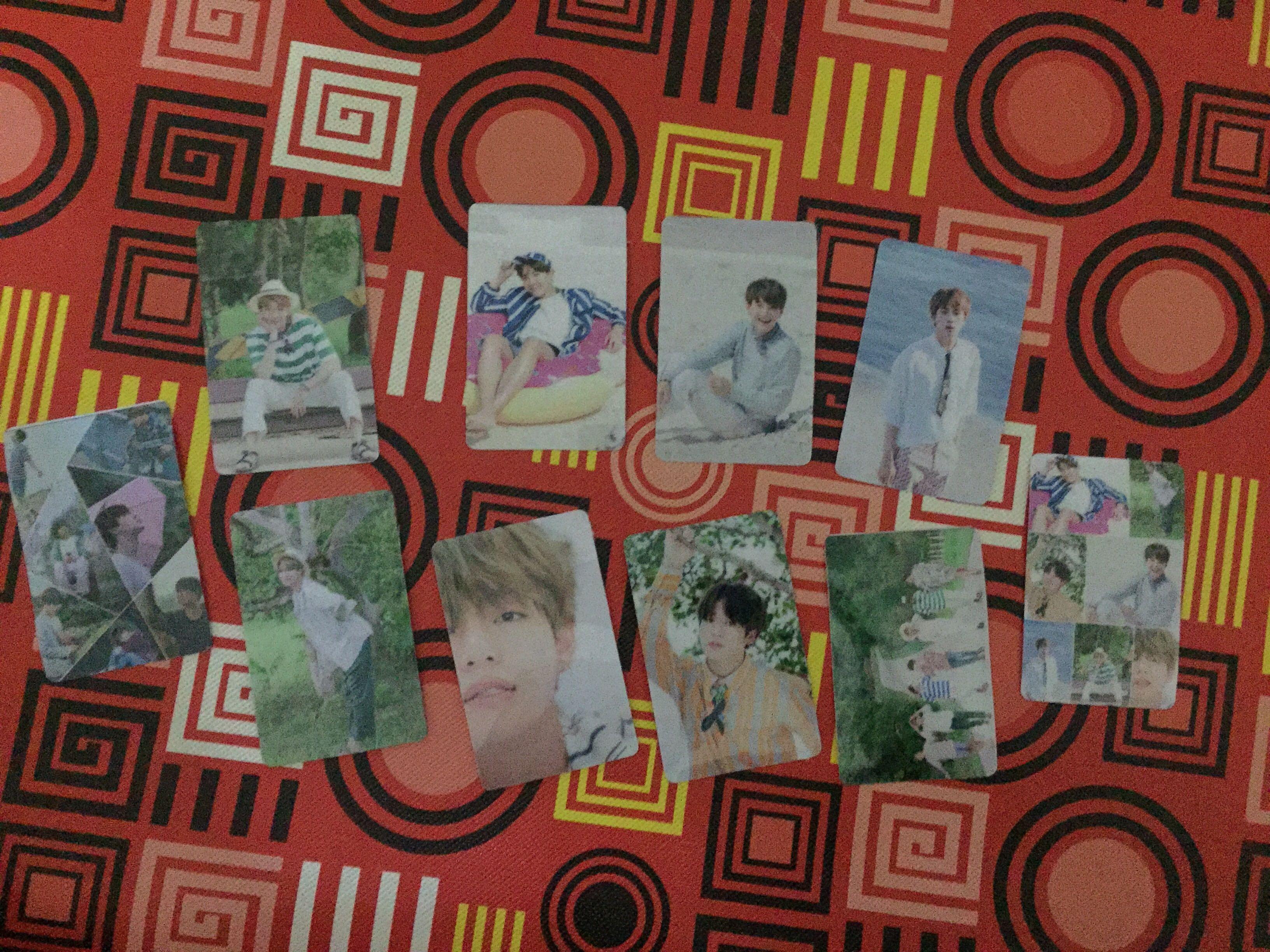 BTS Lomo Card, Bts Transparent Card, BTS acrylic cards.