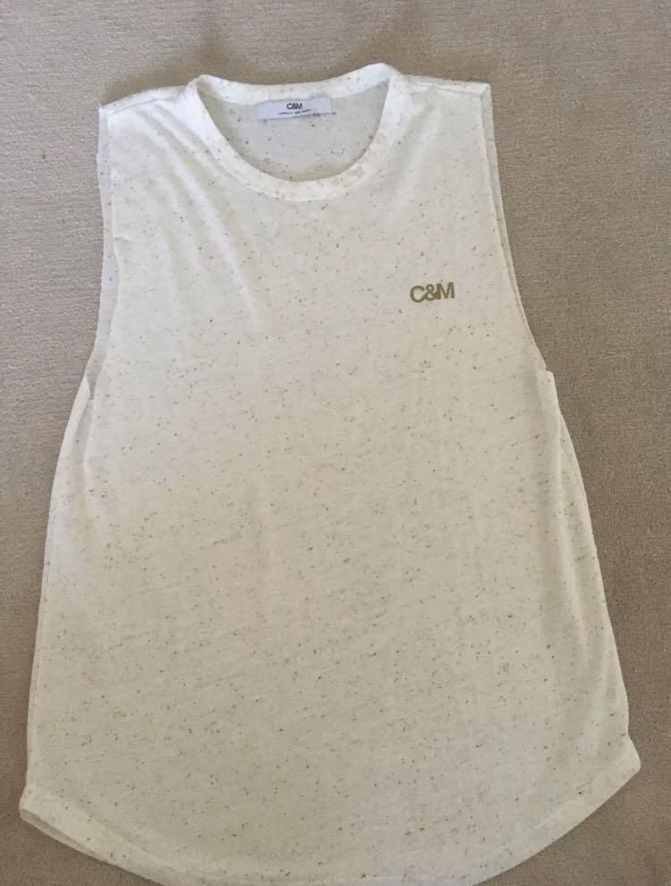 C&M Camilla and Marc tank tee top sz M 10-12 vgc as new