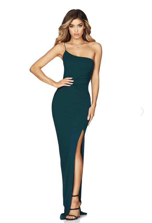 🌟RENTAL🌟 Nookie Formal Dress (Lust One Shoulder Gown in Teal)