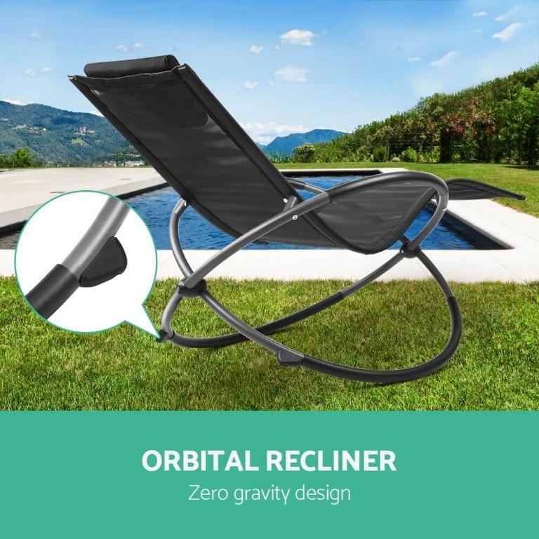 Gardeon Zero Gravity Rocking Chair Beach Lounge Outdoor Recliner Folding Patio