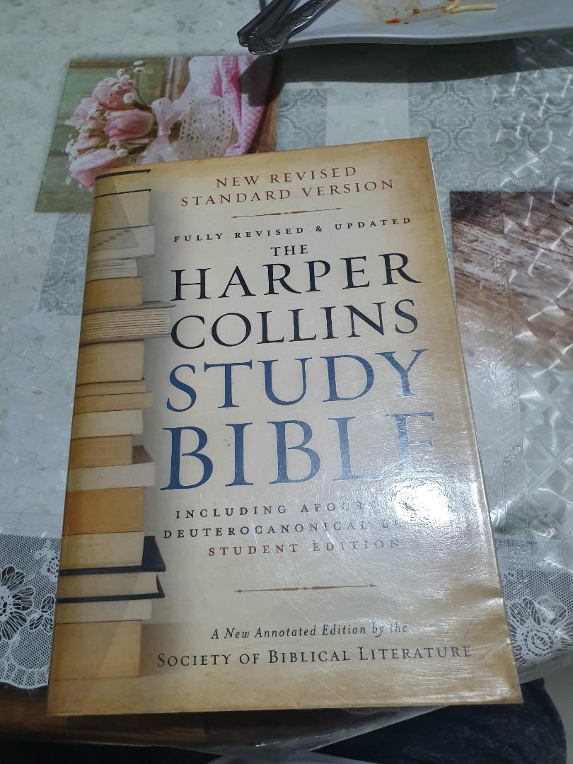 Harper Collins Study Bible with Apocryphal Deuterocanonical Books (Theology, biblical studies, christianity, bible)