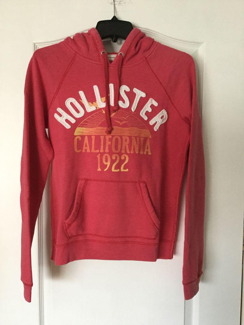 Hollister pink pullover hoodie. Size large. Girls/ Teens