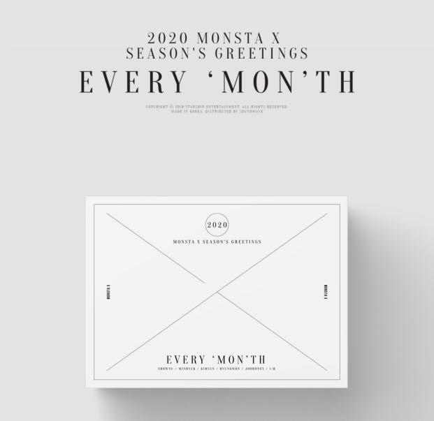 [LOOSE ITEMS / FULL SET] Monsta X 2020 Season's Greetings