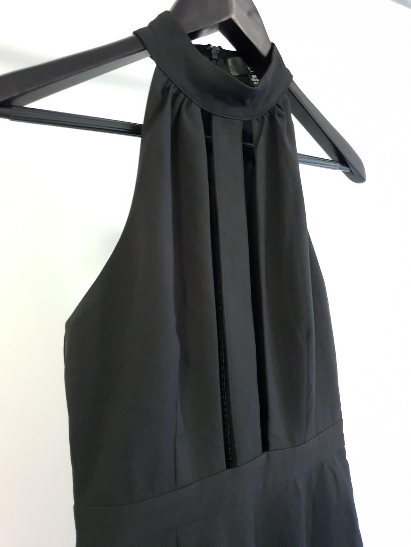 MISSGUIDED Black High Neck Plunge Sleveless Jumpsuit