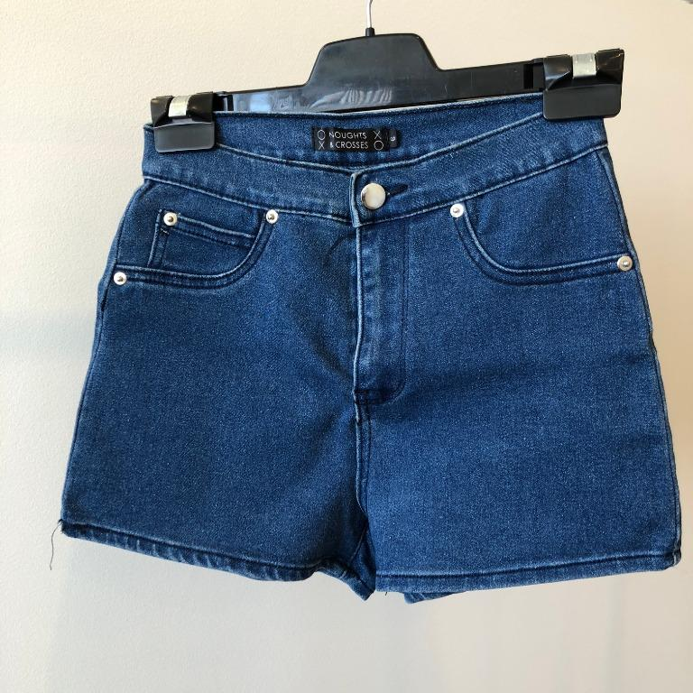 Noughts & Crosses High Waisted Denim Shorts (Aus Size 6)